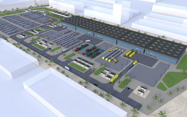 Genesis Takoradi Logistics Base - Aerial View - slider