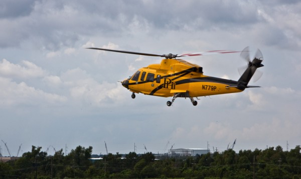 PHI Century S-76 Helicopter After Takeoff